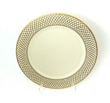 """Lenox West Point China Plate Charger 11 1/2"""" Gold Intertwining Lines Lattice"""