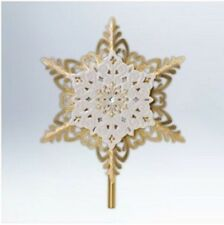 2012 Hallmark Ornament ~ Christmas Snowflake Tree Topper ~ Star  QXG3571