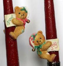 Cherished Teddies - Bears With Stocking Hats - Kerzenklammern - NEU!!!