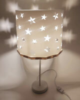 Bedside table lamp White Stars + EREKI Magnetic Set for Touchless Bulb Changing