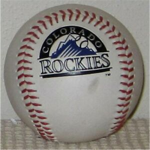 Colorado Rockies Etched Team Baseball