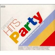 Greatest Hits of Party 3cd Mud Blondie Specials Hollies Heaven 17 Ub40 Wizzard