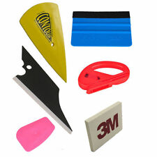Car Wrap Application Vinyl Tool Kit 3M Felt Squeegee Snitty Cutter 6pc Combo Kit