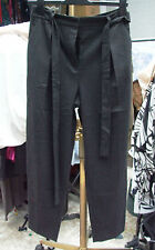 Zara Woman Fabulous Grey Pinstripe Belted Trousers Size S