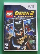 LEGO Batman 2: DC Super Heroes (Nintendo Wii, 2012) COMPLETE! Tested, WORKS!