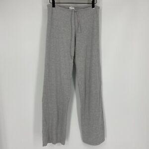 La Perla Pants Size 6 Womens Gray Studio Heather Cotton Lounge Yoga Drawstring