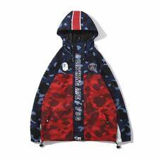 697f0e785073 Blue Red Cool A Bathing Ape Camo Shark Head Bape Windbreaker Hoodie Jacket  Coats
