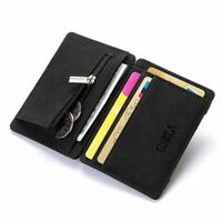 Men Wallet Ultra Thin Leather Magic Coin Purse Plastic Credit Card Case Holder