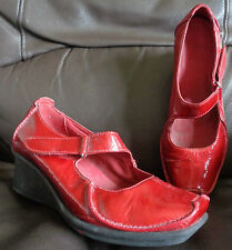 Clarks Patent Leather Wedge Mid Heel (1.5-3 in.) Women's Shoes
