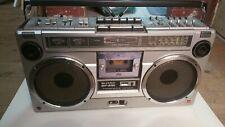 Sharp GF-9191 x stereo cassette ghettoblaster vintage boombox tape tuner radio