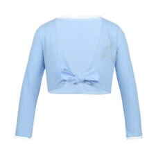 Kids Girls Ballet Dance Crossover Cotton Wrap Knitted Cardigan Top Sweaters