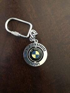 BMW NY RANGERS Rotating Keychain Great Condition New York Hockey