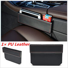 1p Car Seat Gap Slit Pocket Storage Organizer PU Leather Catch Catcher Box Caddy