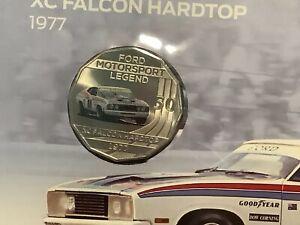 2018 PNC Australia. Ford 1977 XC Falcon Hardtop Motorsport Legend RAM 50c Coin