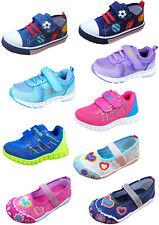 Kinder Stoff Schuhe Hausschuhe Klett Sneaker Freizeit Kita Sportschuhe Gr. 25-31