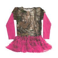Buck Wear Realtree Hot Pink Tu Tu Skirt - Girls Toddler Camouflage Dress Camo