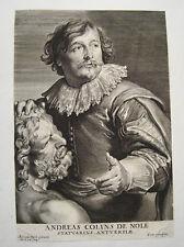 Van Dyck Kupferstich gestochen von Peter de Jode: Andreas Colyns von Nola  1646