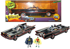 "1966 BATMOBILE 1:18 Batman Classic TV Series EXCL w/ 6"" Figures West Ward Robin"