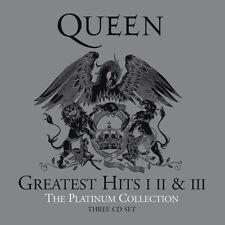 """QUEEN """"GREATEST HITS I II III-THE PLATINUM COLLECTION"""" BOX 3CD NUOVO E SIGILLATO"""