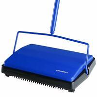 Casabella Carpet Sweeper - 11 Inch Lightweight Electrostatic Floor Cleaner, Blue