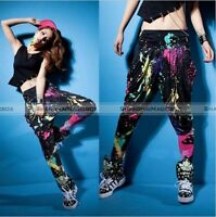 Women HipHop  Casual Colorful Harem Baggy Dance Sport Sweat Pants Trousers BFE