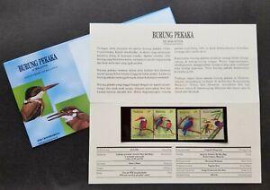 Kingfishers Of Malaysia 1993 Bird Fauna Wildlife Animal (p. pack) MNH *see scan