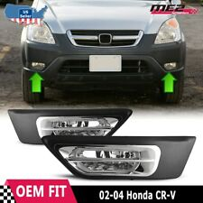 For Honda CR-V 02-04 Factory Replacement Fit Fog Lights + Wiring Kit Clear Lens