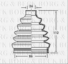 BCB2350 BORG & BECK CV JOINT BOOT KIT fits Audi, Volvo - Outer NEW O.E SPEC!