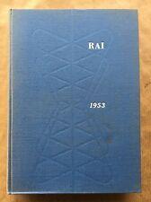 ANNUARIO RAI 1953 Relazioni e bilancio dell'esercizio 1952