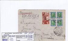 H0037 - ERITREA PER FIRENZE - LETTERA POSTA MILITARE 25 - CATALOGO 115€-QUARTINA