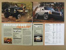 1985 AMC Jeep CJ Cherokee J10 J20 Trucks Wagoneer 8 page vintage print Ad