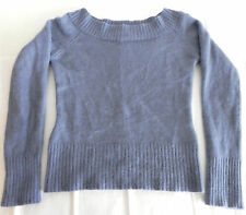 Guess jeans Sweater Long sleeve Boat neck Slim fit Angora blend Blue Size S