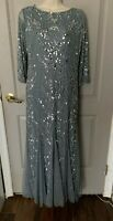 Nordstrom Pisarro Nights Women's Gray Beaded Gown Size 4