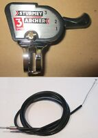 Sturmey Archer 3 Speed  Classic Trigger Shifter and SA 3 Speed Cables