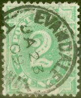 Australia 1902 2d Emerald Green SGD3 Fine Used