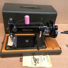 C.W.S. Federation Hand crank Family Vintage sewing machine with manual