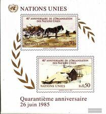 Nations unies - Genève Bloc 3 (complète edition) oblitéré 1985 40 Années Nations
