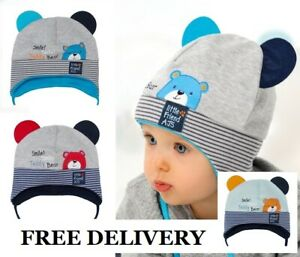 Rich cotton boys hat TIE UP Infant SIZE 0-12 MONTHS kids BABY BOY New HATS