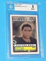 1983 Marcus Allen Topps #294 Rookie Card Beckett 8 NM/MINT RC PSA Comp Invest