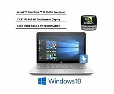 HP Envy 17.3-Inch Full HD IPS Touchscreen Laptop 7th Intel Core i7-7500U ... New