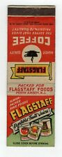 Flagstaff Vegetables Coffee Vintage Matchbook Cover B41