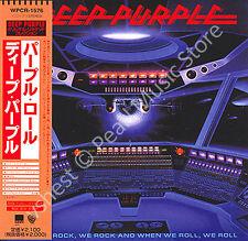 DEEP PURPLE WHEN WE ROCK, WE ROCK AND WHEN WE ROLL, WE ROLL CD MINI LP OBI new