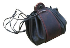 LARP Money Dice Bag Leather Pouch Bag Black and Brown