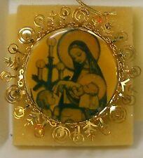Danbury Mint Christmas Ornament Hummel Gold 1987 Christ Child Sleeping -with Box