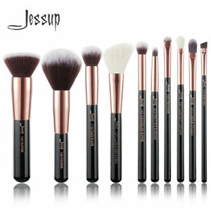 Jessup 10pz Makeup Brushes Foundation Powder Beauty Eyeliner correct
