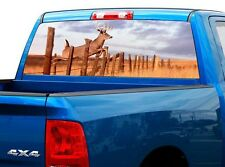 P448 Deer Buck Rear Window Tint Graphic Decal Wrap Back Truck Tailgate