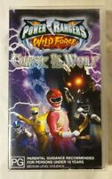 Saban's Power Rangers: Wild Force VHS 2002 Curse of the Wolf - Buena Vista Video