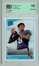 Lamar Jackson 2018 Donruss Football #317 Rated Rookie Card PGI 10