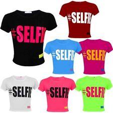 Markenlose Mädchen-T-Shirts mit Rundhals-Ausschnitt