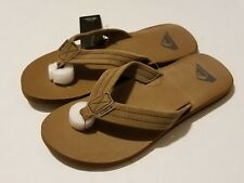 Quiksilver  Carver Suede 3 Point Flip Flop, Tan/Solid  New With Tags MENS SIZE 8